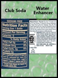 Club Soda And Mio Nutrition Information